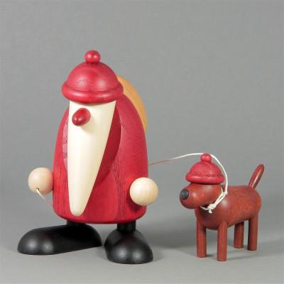 Weihnachtsmann mit Dackel Waldemar