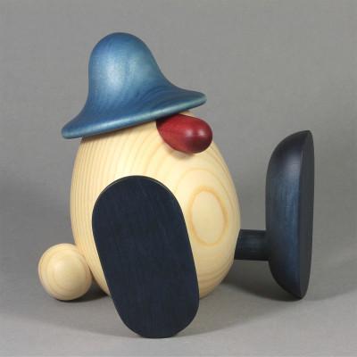 Eierkopf Erwin sitzend, blau