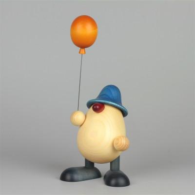 Eierkopf Vater Oskar mit Luftballon, groß, blau