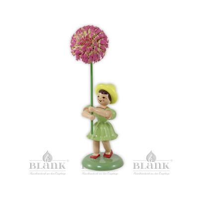 Blumenkind mit Chrysantheme