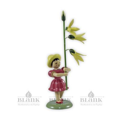 Blumenkind mit Forsythie