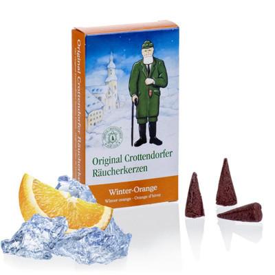 Crottendorfer Räucherkerzen Winter-Orange 24 Stück
