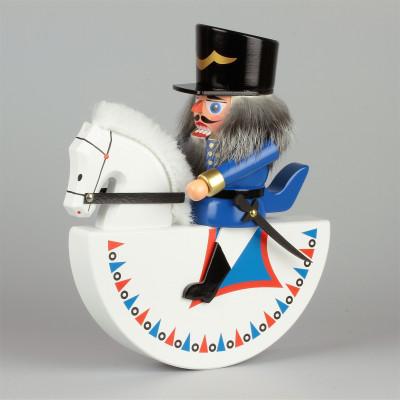 Nussknacker Olbernhauer Reiterlein Husar blau, 19 cm