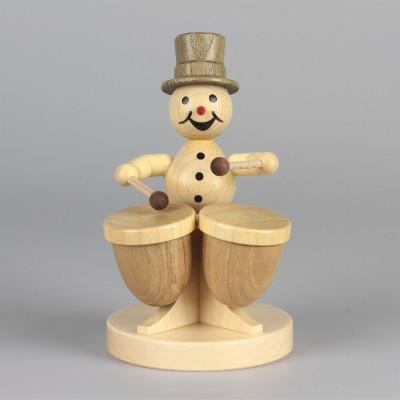 Schneemannmusikant mit Kesselpauke