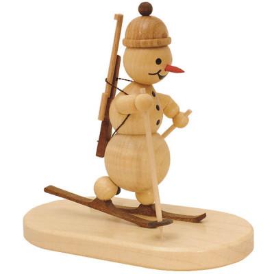 Schneemann Biathlon stehend