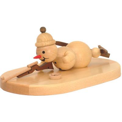 Schneemann Biathlon liegend