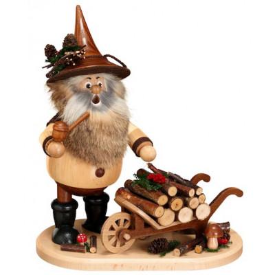 Räuchermann Waldwichtel mit Schiebock