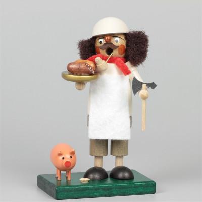 Räuchermann Metzger mit Schwein