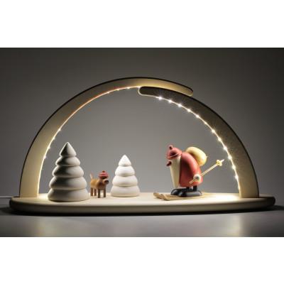 LED-Schwibbogen mit Björn Köhler Weihnachtsmotiv