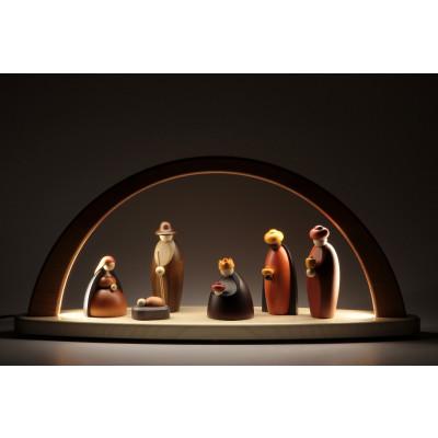 LED-Lichterbogen mit Björn Köhler Krippe Figuren