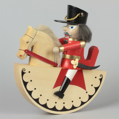 Reiterlein Nussknacker König rot, lasiert