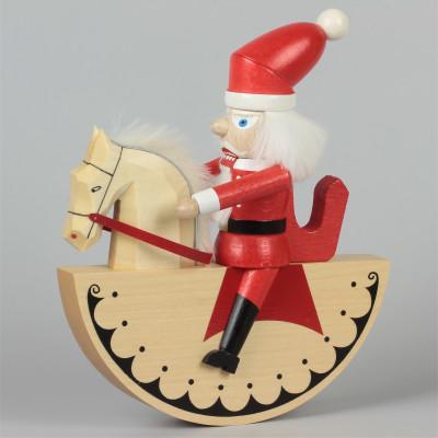 Reiterlein Nussknacker Weihnachtsmann, lasiert