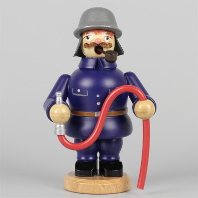 Olbernhauer Räuchermann Feuerwehrmann, klein