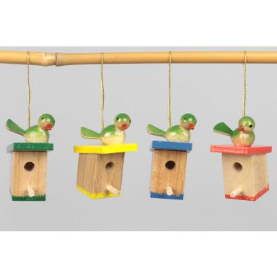 Baumbehang Vogelhäuschen, 4-teilig