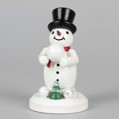 Dekofigur Schneemann mit Schneekugel