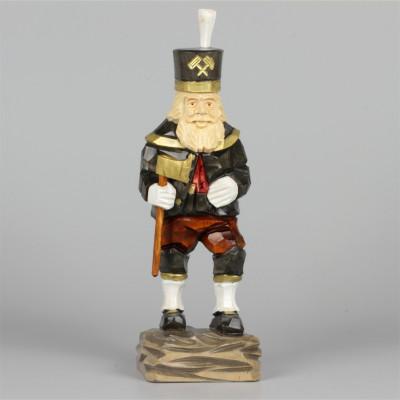 Geschnitzter Bergmann, farbig, 25 cm