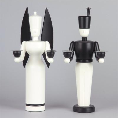 Engel & Bergmann schwarz weiß, exklusiv, 29 cm