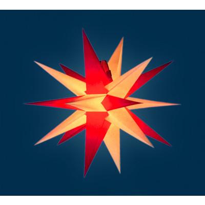 Annaberger Faltstern rote & gelbe Spitzen, 35 cm