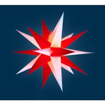 Annaberger Faltstern rote & weiße Spitzen, 35 cm
