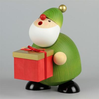 Räuchermann Picus mit Geschenk