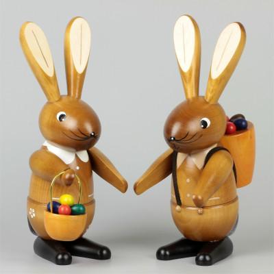 Osterhasen-Paar natur, 20 cm