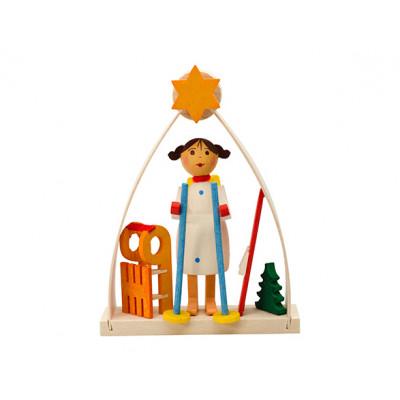 Baumbehang Engel im Bogen mit Ski