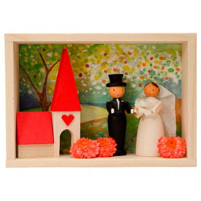 Glückwunschkästl Brautpaar