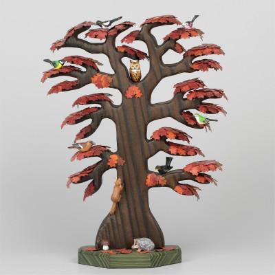 Roteiche mit Vögeln groß, Herbstfärbung, limitiert