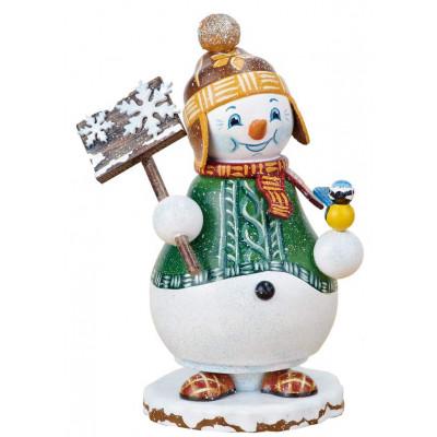 Winterkinder Räucherwichtel Schneemann Schneegestöber