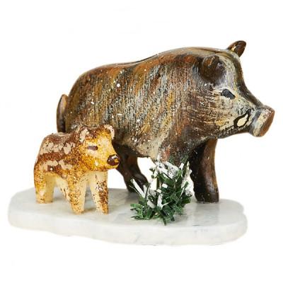 Winterkinder Wildschweine