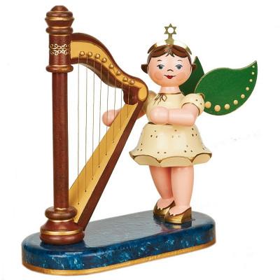 Engel mit Harfe, 16 cm