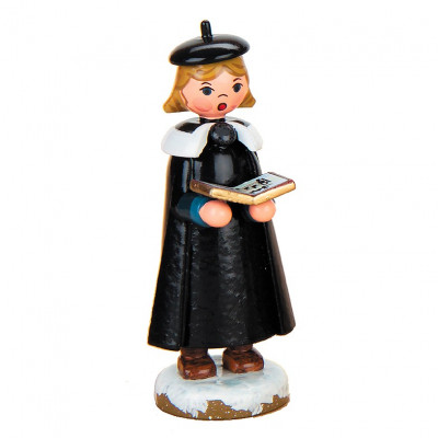 Winterkinder Kurrendemädchen mit Buch
