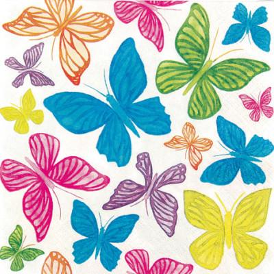 Tischservietten Schmetterlinge