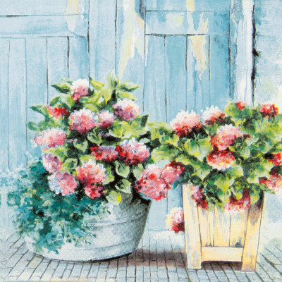 Tischservietten Hortensien