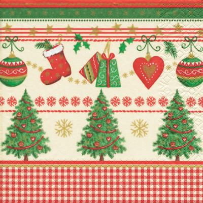 Tischservietten Traditionelle Weihnachten