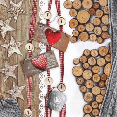 Tischservietten Landhaus Weihnachten
