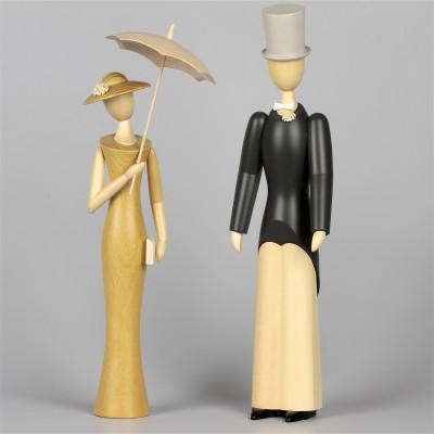 Jahresfiguren Wilhelm & Hermine, 29 cm