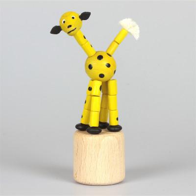 Seiffener Wackelfigur Wackeltier Giraffe