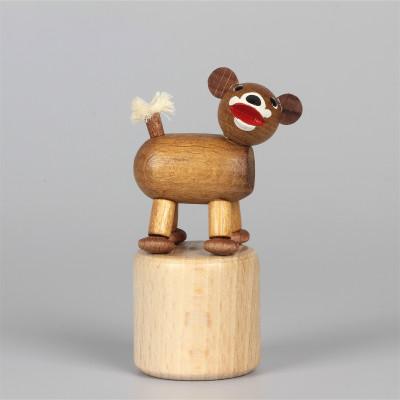 Seiffener Wackelfigur Wackeltier Bär