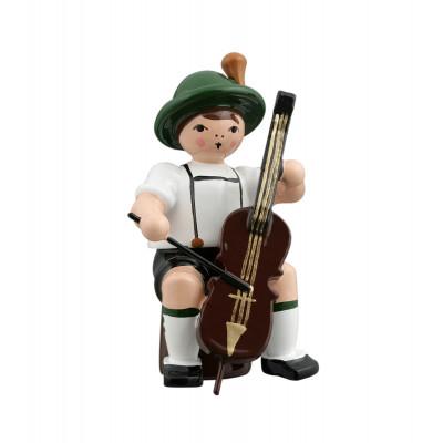 Musikant sitzend mit Cello