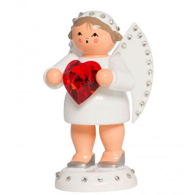 Engel Liebesbote mit Swarovski-Herz und Lichtsockel, limitiert