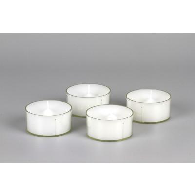 Maxi-Teelichter, 4 Stück, weiß, Kunststoff