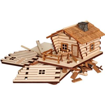 Bastelset Räucherhaus Blockhütte