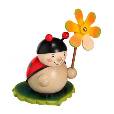 Marienkäfer mit Windmühle