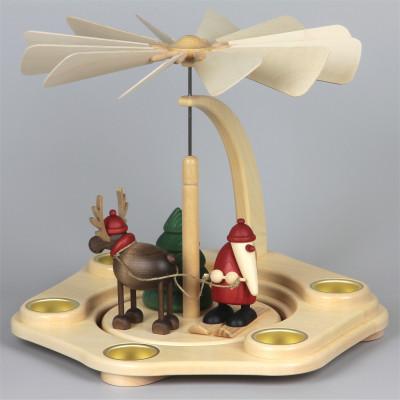 Teelichtpyramide mit Björn Köhler Figuren