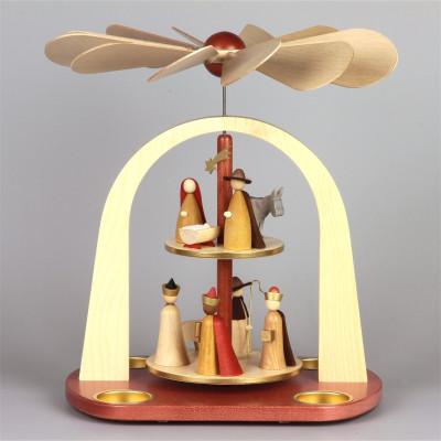 Moderne Teelichtpyramide Christi Geburt, 2-stufig