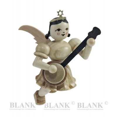 Engel schwebend mit Banjo