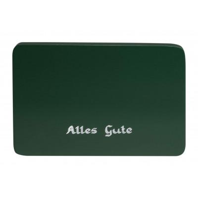 Beschriftete Sockelplatte grün Alles Gute