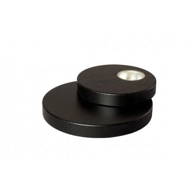 Teelichthalter doppelt 18,0 cm dunkel