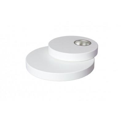 Teelichthalter doppelt 18,0 cm weiß
